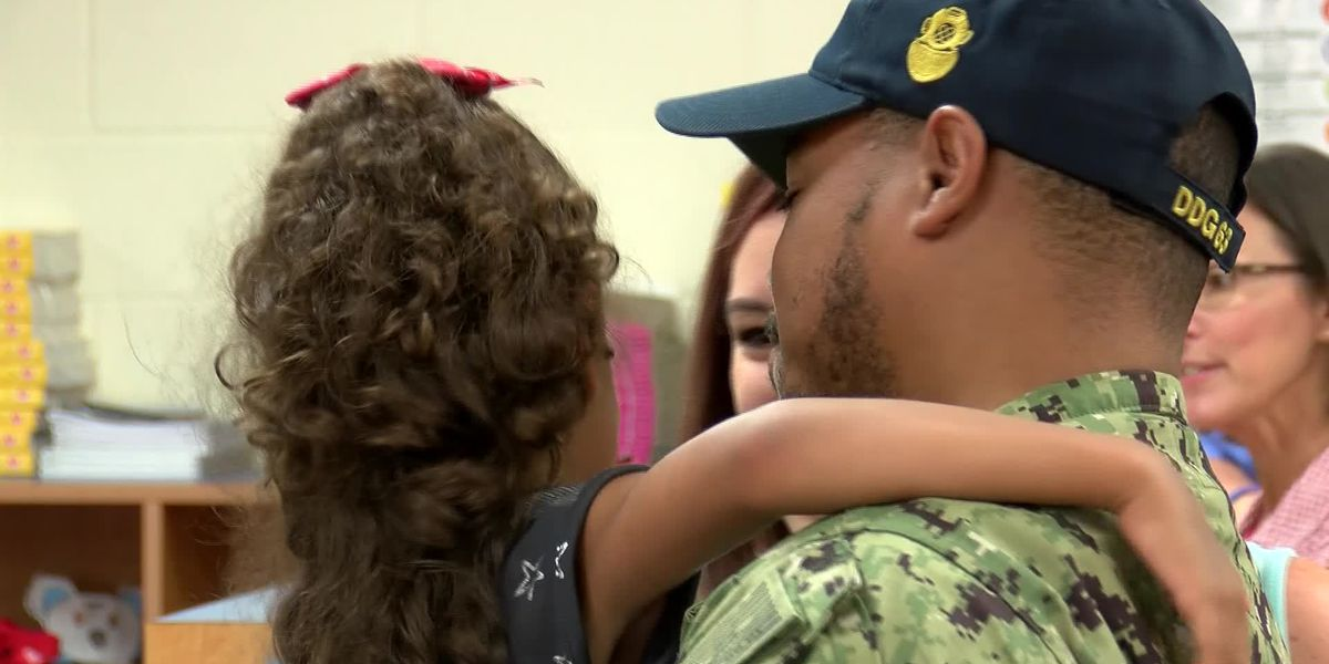 Midlands girl gets military surprise greeting from dad after long deployment