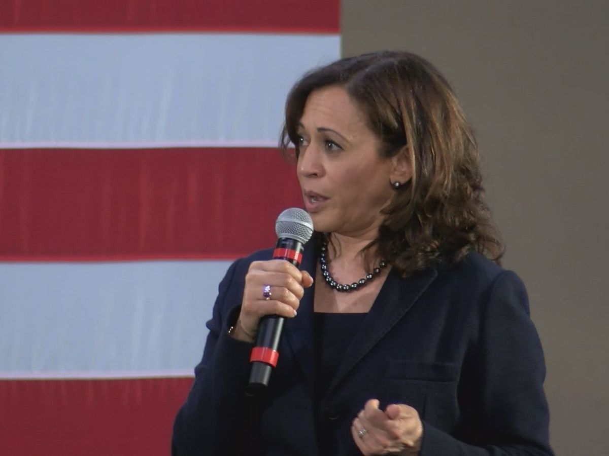 California Senator Kamala Harris makes her case for Presidency in West Columbia