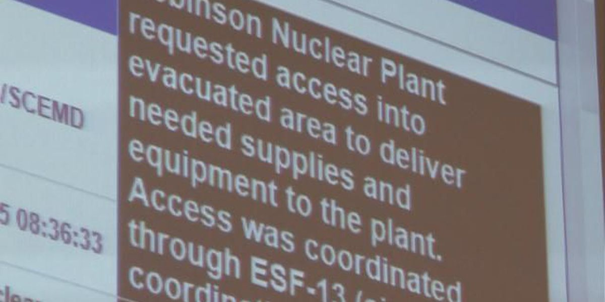 SC officials conduct test drill at nuclear power plant