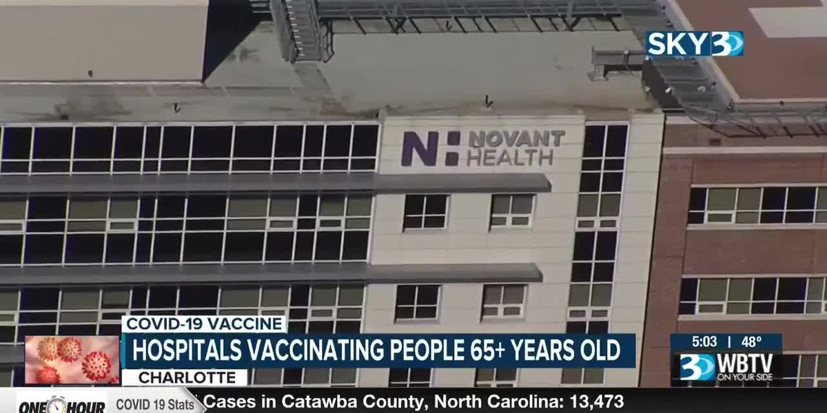 Hospitals vaccinating people 65 and older