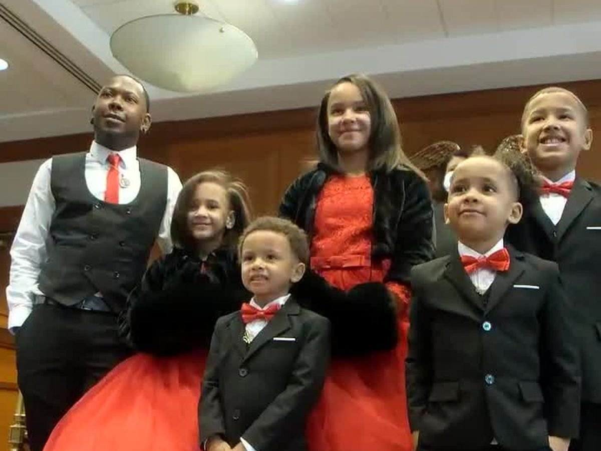 Single father adopts five children on Hamilton County's Adoption Day