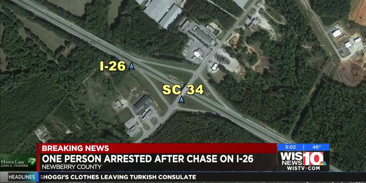 One person arrested after chase on I-26