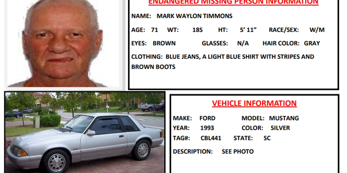 71-year-old Rock Hill man with dementia located in Aiken County