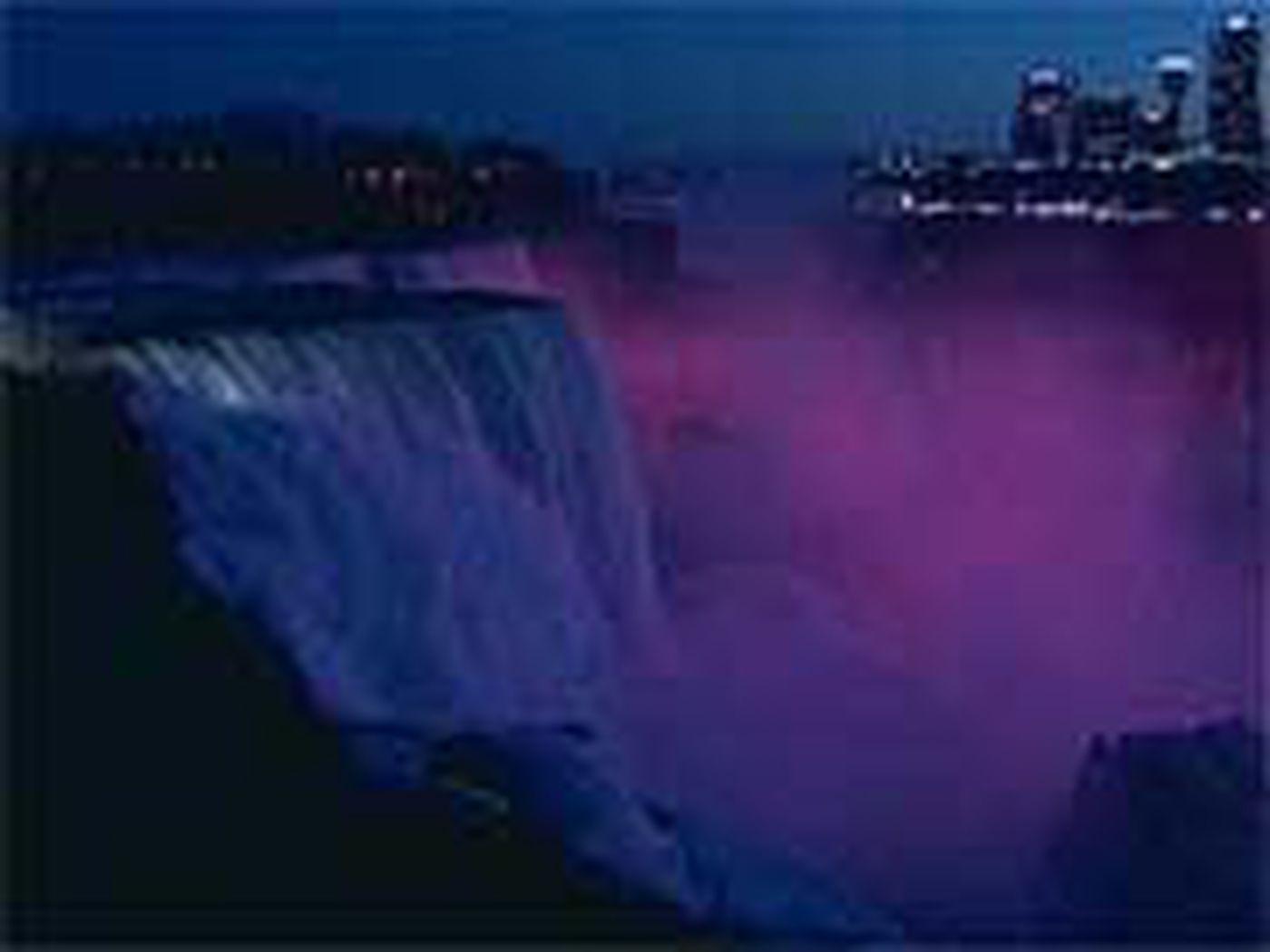 Niagara Falls Lighted To Memorialize Virginia Tech Victims