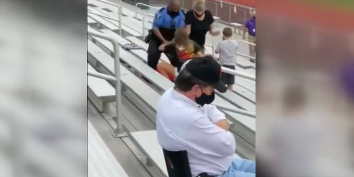 Police tase woman at football game in Logan, Ohio