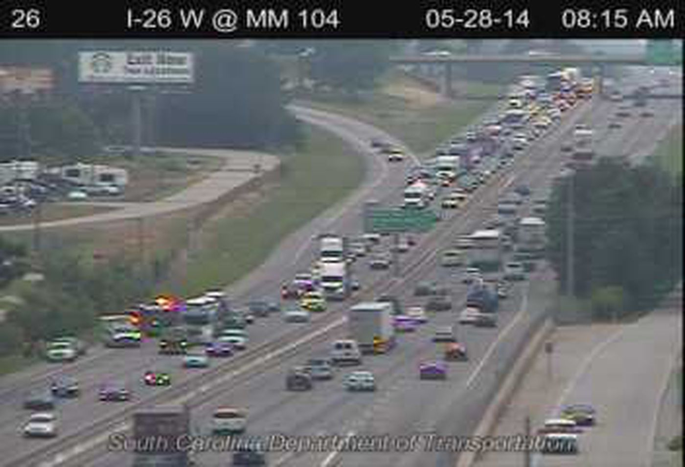 All lanes of traffic back open following I-26 accident