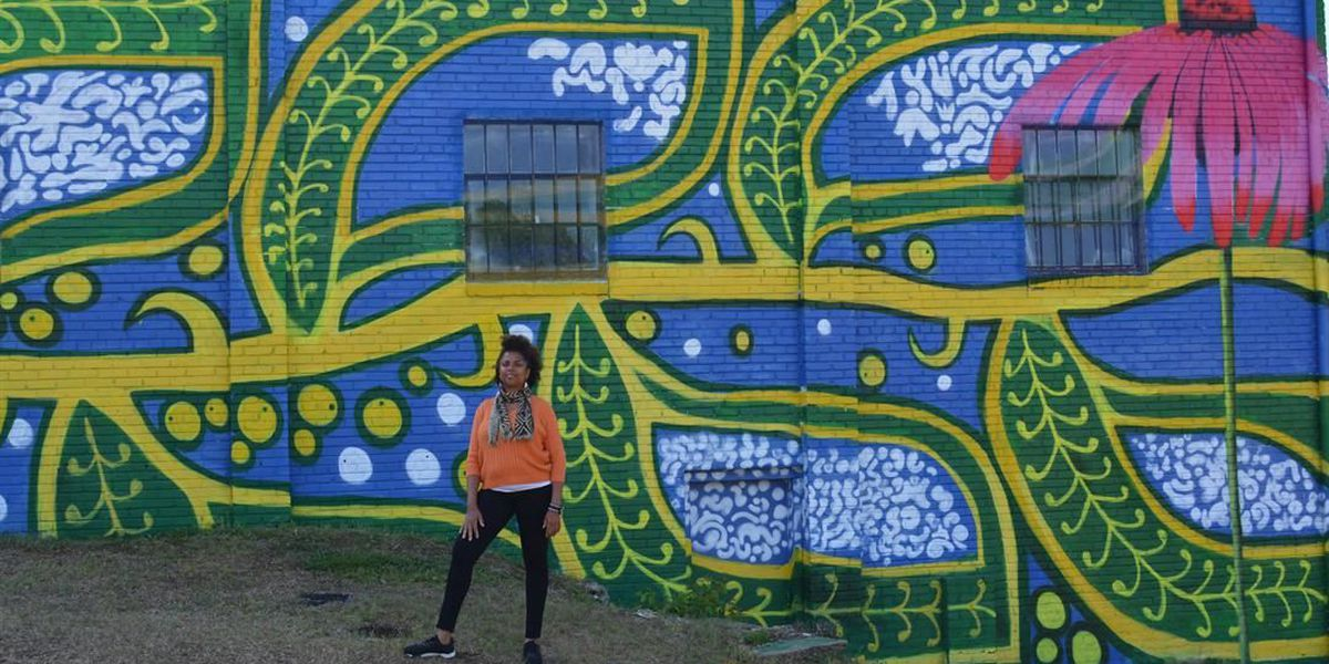 This gorgeous mural in North Columbia will make you stop and take pictures!