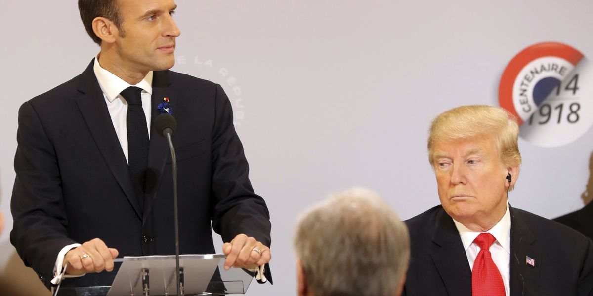 French president requests respect following Trump's tweets