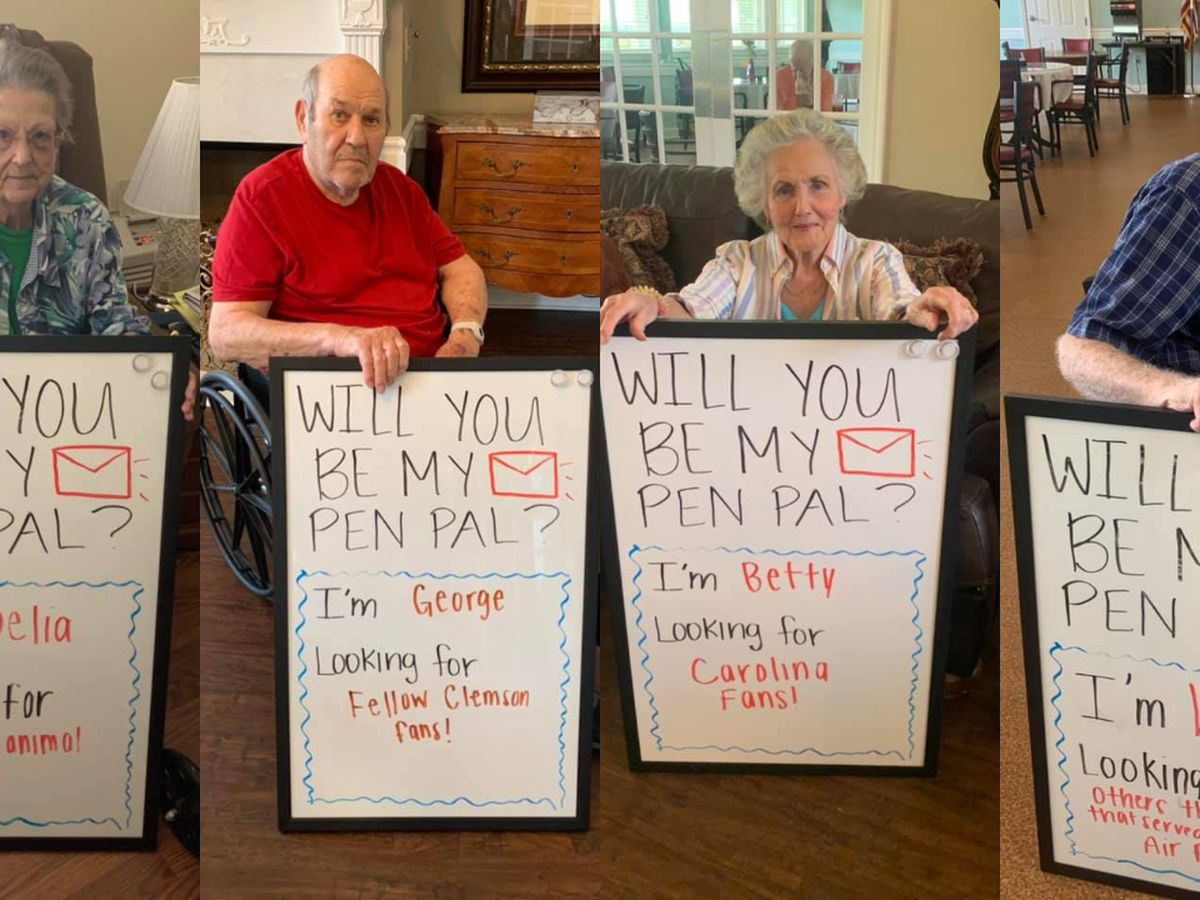 Grab your pen and pad! Residents at nursing home in Chapin seek pen pals