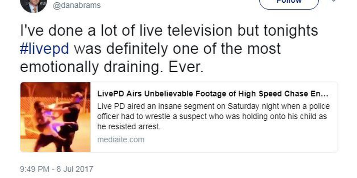 Host, fans react on Twitter to high-speed chase caught on 'Live PD'