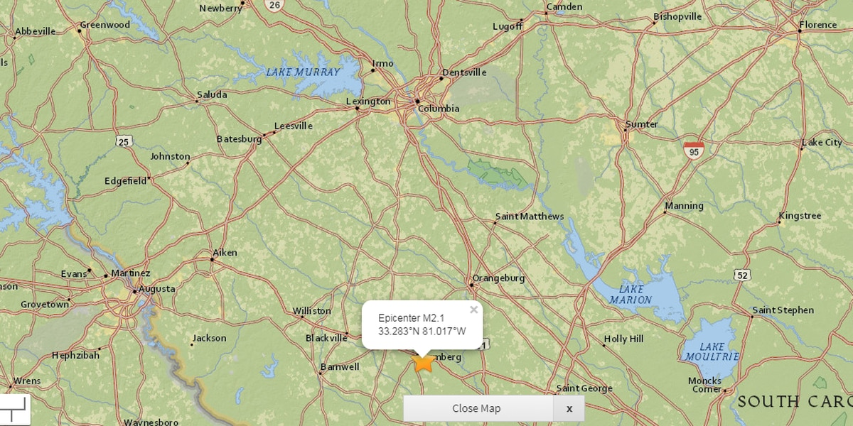 USGS: Earthquake recorded in South Carolina early Saturday