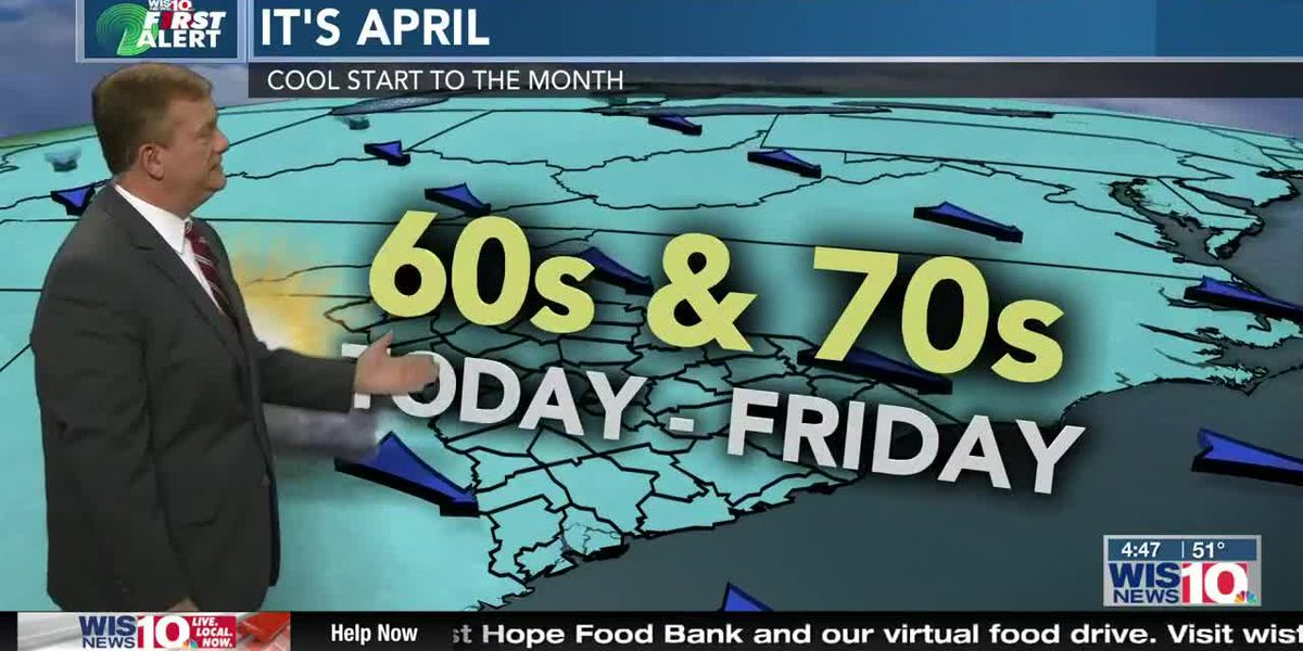 First Alert Forecast: Hello April! Cool start to the new month