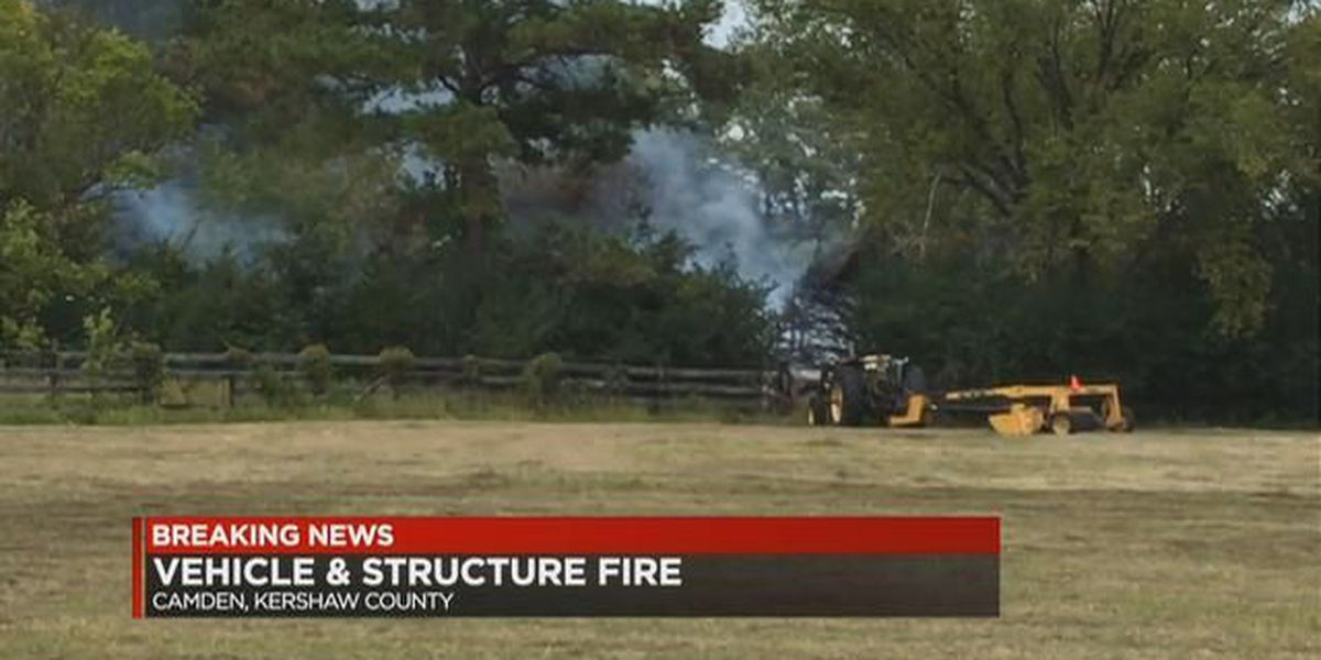 Fire damages structure, vehicle at former horse ranch