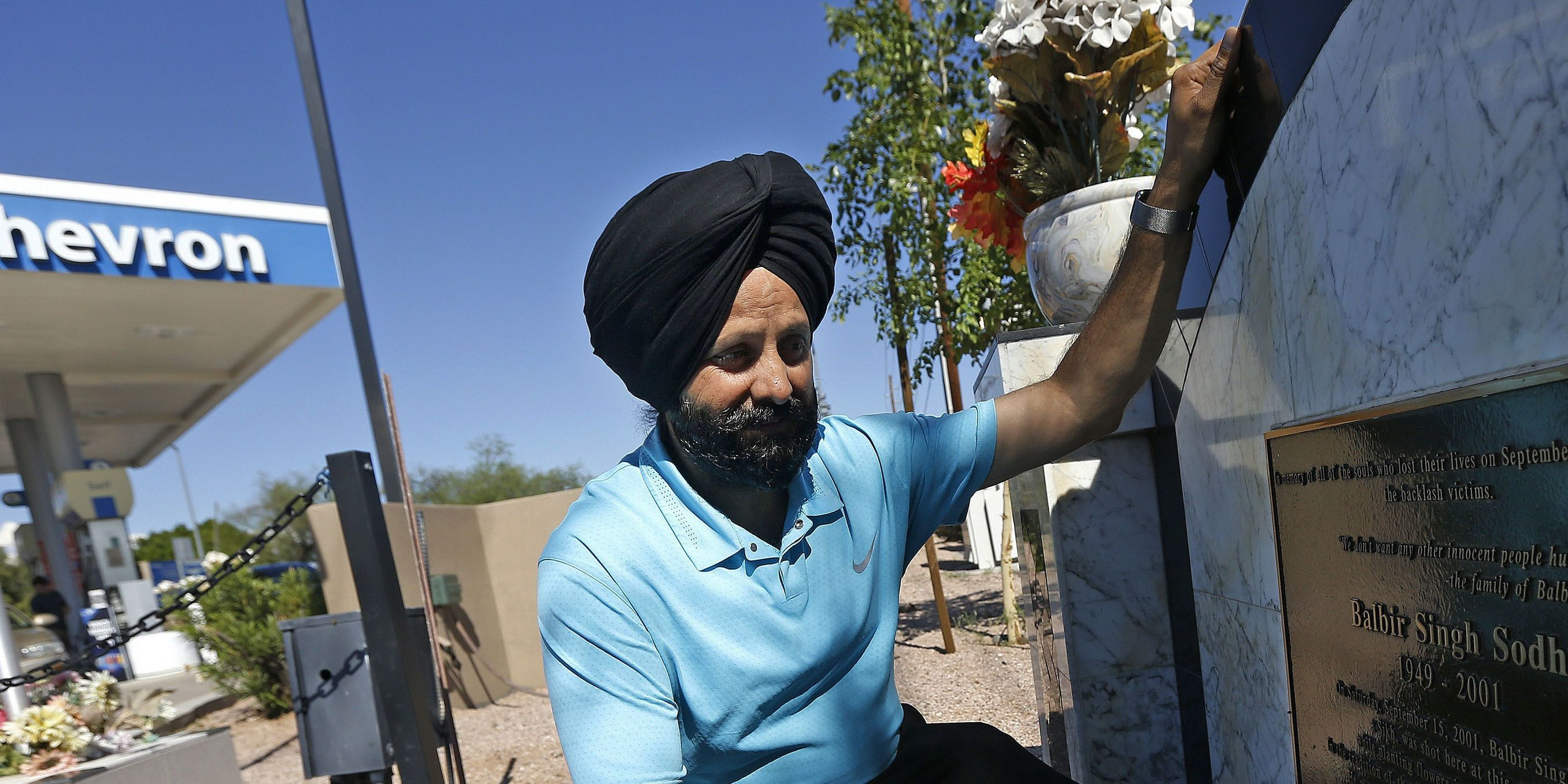 Sikh preaches love 18 years after brother killed over turban following 9/11